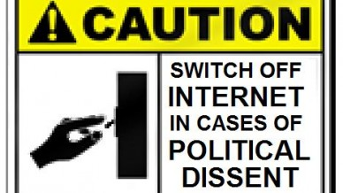 Switch off internet in cases of political dissent.