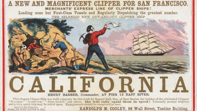 Joint Stock Companies were used to get adventurers to the California gold rush